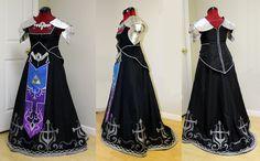 Dark Zelda Dress by WanderingWindward on DeviantArt Cosplay Diy, Awesome Cosplay, Best Cosplay, Zelda Dress, Gaming, Deviantart, Dark, Image, Dresses