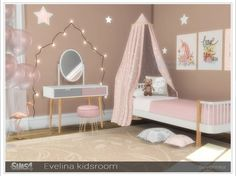 Created By Severinka Evelina kidsroom Created for: The Sims 4 A set of furniture for the design of a kidsroom in Scandinavian style. Furniture in a delicate pink-gray colors. The set includes Diy Furniture Renovation, Diy Furniture Cheap, Toddler Furniture, Sims 4 Cc Furniture, Kids Bedroom Furniture, Furniture Legs, Barbie Furniture, Garden Furniture, Furniture Design