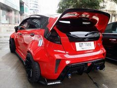 Red and Black Ford Fiesta mk7 ST RS
