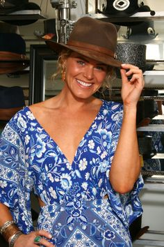 Kelly Dowdle looking amazing in our fine hats