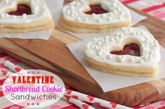 Valentine Shortbread Cookie Sandwiches by Picky Palate www.picky-palate.com