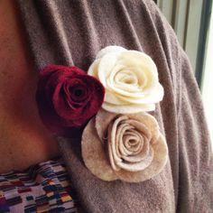 No Sew Easy Felt Flower free tutorial