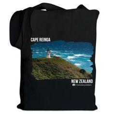 NZ Canvas Bag - Photo Cape Reinga, Northland, New Zealand Canvas Bags, Gray Background, Kiwi, Canvas Size, Cotton Canvas, New Zealand, Cape, Cool Designs, Prints