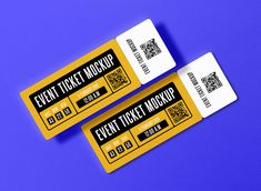Free Event Ticket Mockup #eventmockup #ticketmockup #freemockup #freemockups #free #mockup #ticket #event