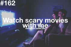 Slowly but surely my wife is starting to like watching scary movies with me, ♥ you!
