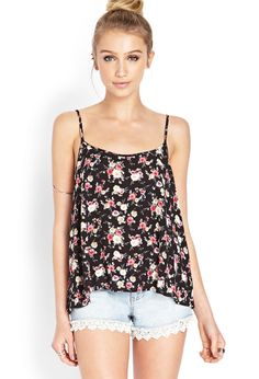 Floral Romance Cami from Forever Saved to Forever Shop more products from Forever 21 on Wanelo. Fashion Moda, Teen Fashion, Fashion Beauty, Fashion Outfits, Womens Fashion, Casual Chic, Summer Outfits, Cute Outfits, Forever 21