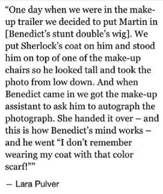 Oh Ben. Behind the scenes of BBC Sherlock.