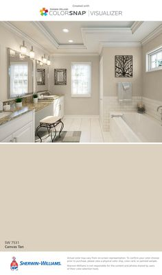 I found this color with ColorSnap® Visualizer for iPhone by Sherwin-Williams: Canvas Tan (SW 7531).