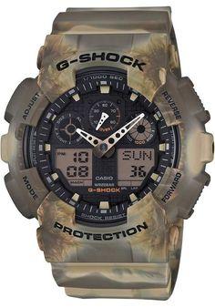 9ada5194f09 G-Shock GA-100MM Marble Camo Brown Casio Watch