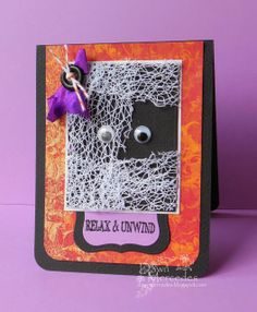 The weekend is upon us and it is now time to RELAX & UNWIND! Thanksgiving Cards, Life Design, Fall Halloween, Handmade Cards, Crochet Earrings, Card Making, Relax, Presents, Stamp