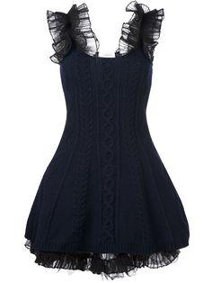 Shop Valentino cable knit mini dress.