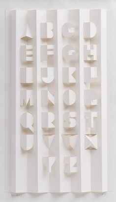 Hand-cut, hand-folded Paper Alphabet Poster // Ron King – Expolore the best and the special ideas about typography Typography Letters, Typography Prints, Typography Poster, Graphic Design Typography, Logo Design, Alphabet Poster, 3d Alphabet, Schrift Design, Plakat Design