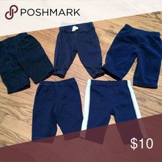 5 pairs Carter's navy pants Size 3 months Carter's Bottoms Casual