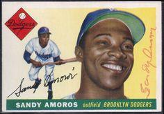 1955 Topps Sandy Amoros autograph