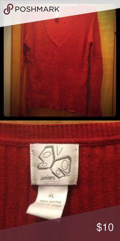 Red sweater Red Jr. Fashion bug sweater Fashion Bug Sweaters V-Necks