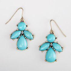 Aqua Drop Earrings at Cost Plus World Market >> #WorldMarket Mother's Day