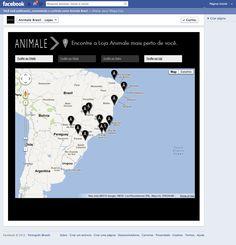 Aba - Lojas Animale - Mashup Google Maps - Visão inicial.