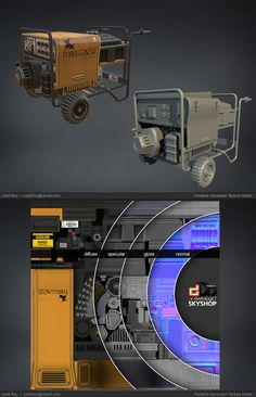 Portable Generator Prop by Judd Roy on ArtStation. Polygon Modeling, 3d Modeling, Principles Of Animation, Gnu Linux, Low Poly Games, Game Textures, Cyberpunk City, 3d Model Character, Game Props