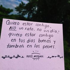 Apoyo amor y fuerza Frases Love, Distance Love, Love Phrases, I Love You, My Love, I Don T Know, Love Notes, Spanish Quotes, Love Cards