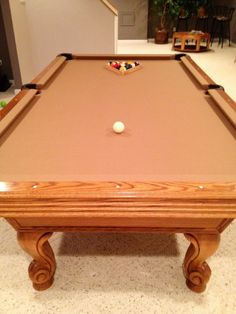 AFTER pic:  Re felted pool table!  Can't believe we did it ourselves !