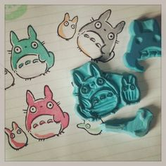 Totoro handcarved stamp