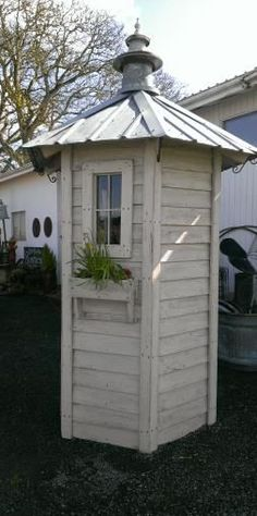 a small and tall one just for shovels rakes etc the long tool storage shed