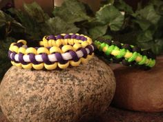 Free Shipping... 3 color Paracord Bracelet by Bluestar409 on Etsy