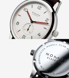 Nomos Club : Automat Datum, 41.5mm. My favorite Nomos, though I really like most all of them. (Note: these watches seem to have a couple of sizes for each model. The regular Club is 38mm.) These watches start at 1200 with many at 2300-2500. Watchbuys.com stocks them.