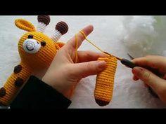 Zürafa çıngırak yapımı part 1 - YouTube Knitting For Kids, Baby Knitting Patterns, Crochet Patterns, Crochet Dolls, Crochet Baby, Amigurumi Giraffe, Wie Macht Man, Crochet Motifs, Crochet Videos