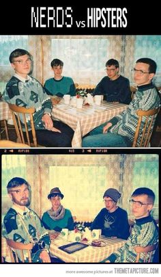 Nerds vs. Hipsters