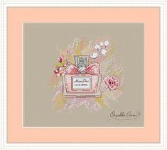 Cross Stitching, Cross Stitch Embroidery, Cross Stitch Patterns, Stitch 2, Perfume Bottles, Channel, Cross Stitch, Needlepoint, Dressmaking