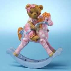 Cherished Teddies Celina Girl Bear on Rocking Horse Friends figurine 4025790 NEW