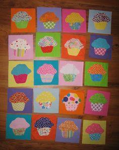 cupcake quilt great idea for scraps!
