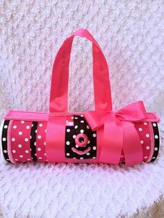 Hot Pink Diaper Purse Diaper Cake Alternative Unique Baby Shower Gift Centerpiece by toodlesdiapercake on Etsy