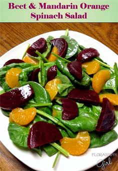 Beet and Mandarin Orange Spinach Salad by Florassippi Girl