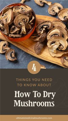 For mushroom lovers, it can be a challenge to look for your favorite varieties when they're off-season. Here's a great news: you can dehydrate them and stock up on some of those that are hard to hunt in the wild or at the market. Check out these 4 things to know if you want to dry mushrooms so you can get started with preserving your own mushroom supply. | Discover more about medicinal mushrooms at ultimatemedicinalmushrooms.com #dryingmushroomsforprofit #preservingmushrooms… Mushroom Gravy, Mushroom Risotto, Mushroom Sauce, Mushroom Recipes, How To Cook Mushrooms, Dried Mushrooms, Sauteed Mushrooms, Mushroom Hunting, Learn To Cook