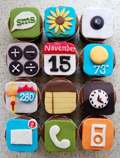 iphone cupcakes...i am totally making these for john's birthday this year!