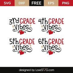 *** FREE SVG CUT FILE for Cricut, Silhouette and more *** Grade vibes 3rd 4th 5th 6th