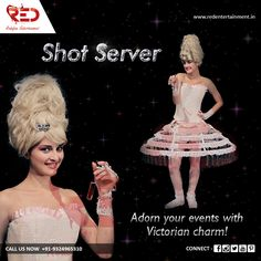 Serve your guests with Victorian charm!  Add sparkle to your event and wedding with our beautiful Shot Server!   For more such sparkling acts, visit us at: http://www.redentertainment.in/in-house-act.aspx