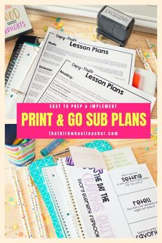 Emergency Sub Plans: Print & go plans to save you time Emergency Sub Plans: print and go plans to save you time to prepare for a substitute teacher. They include activities and step-by-step lesson plans for your substitute teacher for re Social Studies Lesson Plans, Teacher Lesson Plans, Teacher Resources, Teaching Ideas, Teaching Tools, Relief Teacher, Emergency Sub Plans, Substitute Teacher, Substitute Binder