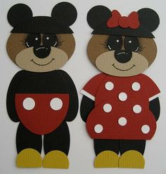 mickey and minnie bears by hope packages