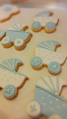 Hand decorated cookies-baby stroller@ Cupcake Pardiso, Rimini, Italy - biscotti…