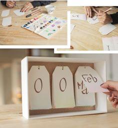 Veja como fazer um calendário de mesa