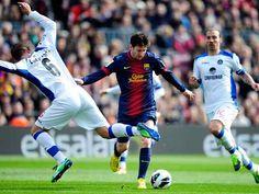 Lio Messi marcó el segundo en la goleda del Barcelona sobre el Getafe.