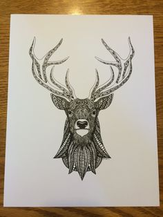 zentangle deer | Zentangle Deer Art Print