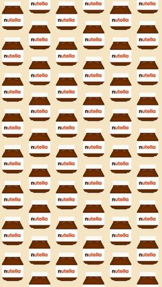 Nutella Pots Pattern iPhone 6 / 6 Plus wallpaper
