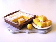 Lemon squares - Miniature in 1:12 by Erzsébet Bodzás, IGMA Artisan | eBay