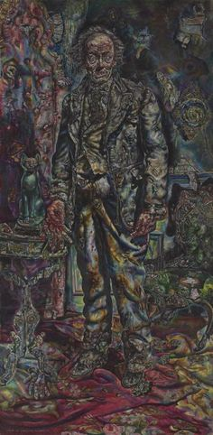 """Ivan Albright, """"Picture of Dorian Gray"""" 1943-44. The best portrayal of one of my favorite novels. Albright is amazing."""
