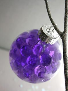 Easy DIY Christmas Ornament Ideas - Gel Beads Bauble - Click Pic for 30 Holiday Craft Ideas