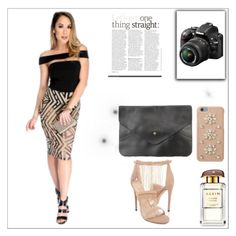 """""""Lights, camera, ACTION!"""" by amiclubwear ❤ liked on Polyvore featuring Nikon, MICHAEL Michael Kors, highheels, MeshDress and amiclubwear"""